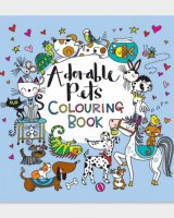 Square Colouring Book - Adorable Pets